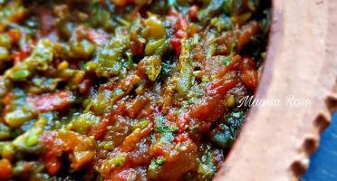 Graines Précieuses - Piments Braisés Aux Tomates Confites À L'huile D'olive.