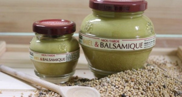 Domaine des Terres Rouges - Moutarde Miel & Balsamique 100% Graines Françaises - Sans Additif