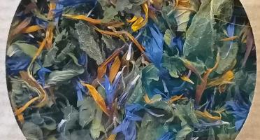 Les Jardins du Mas de Greil - Ortie-menthe-souci-bleuet, Tisane Composée