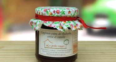 Les Perles Rouges - Confiture Extra De Rhubarbe Cerise À La Vanille Bourbon