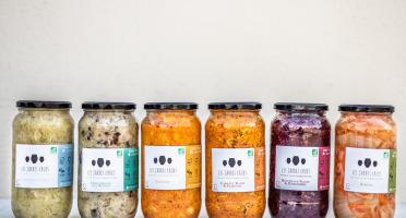 Les Jarres Crues - Lot de 6 Bocaux de 1 Kg de Légumes Lacto-fermentés BIO