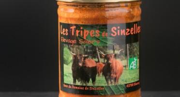 Domaine de Sinzelles - Tripes Cuisinées de Bœuf Race Salers BIO -Bocal de 700 g
