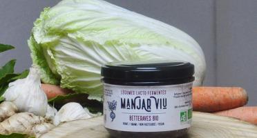 Manjar Viu : Légumes lacto fermentés - Betteraves, Chou blanc, Cumin - Lacto-fermentées BIO - 220g