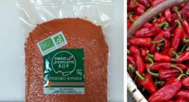 BIPER XOKOA - Poudre de Piment d'Espelette AOP Bio - Sachet de 1 kg