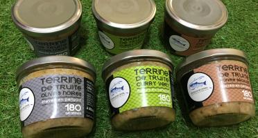 Pisciculture des eaux de l'Inval - 3 Terrines 180 Gr (olive Noire, Curry Vert, Poivre De Sechuan)