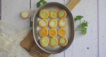 Limero l'Escargot Mayennais - Lot De 5 Assiettes De 12 Mini Bouchées D'escargots Gros Gris FRAIS Garnies Aux 3 Beurres
