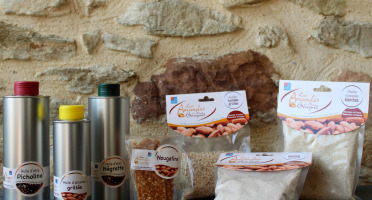 Les amandes et olives du Mont Bouquet - Panier Spécial Cuisine : Huiles, Poudre d'Amande, Amandes Hachée et Nougatine