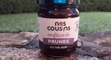 Nos cousins Conserverie - Confiture De Prune Au Thé Noir 240g
