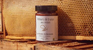 Les Ruchers de Normandie - Confiture de Fraise au miel 230g
