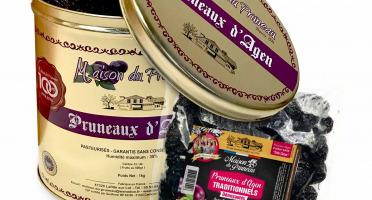 Maison du Pruneau - Pruneaux D'agen IGP Dénoyautés (44/55 - Très Gros) - Boîte Métal - 1kg