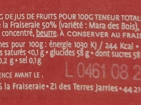 La Fraiseraie - Gelée Fraise Mara Des Bois 45g