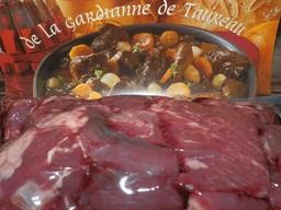 Les Délices du Scamandre - [SURGELÉ] Gardiane de Taureau de Camargue AOP Bio à cuisiner  - 1,6 Kg
