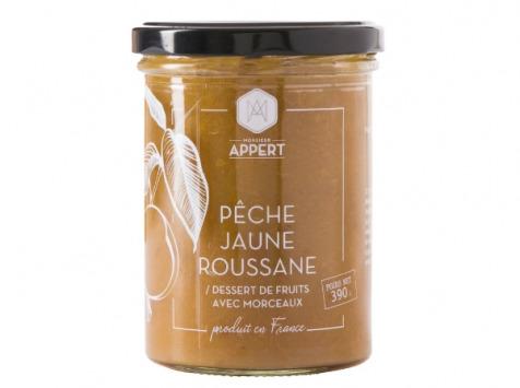 Monsieur Appert - Pêche Jaune Roussanne - Dessert De Fruit Avec Morceaux