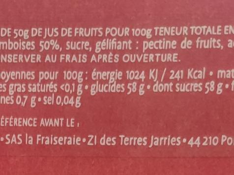 La Fraiseraie - Gelée Framboise 45g