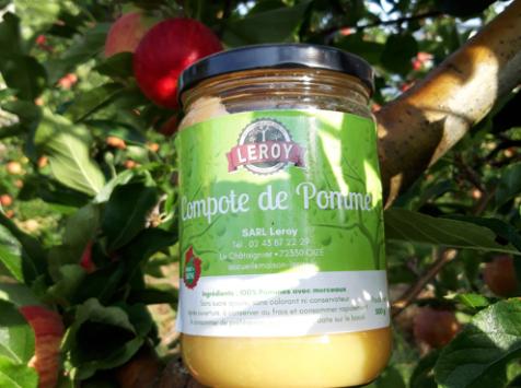 Le Châtaignier - Compote de pomme - Pot 500g