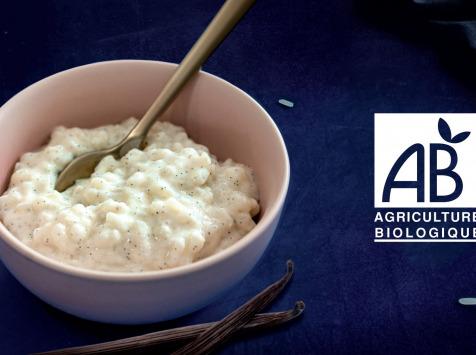 Eclats de Riz, le riz au lait Bio - Riz au lait Bio à la pure gousse de Vanille de Madagascar | 8 pots Solo