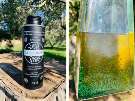 Spiruline des Oliviers - Huile D'olive À La Spiruline