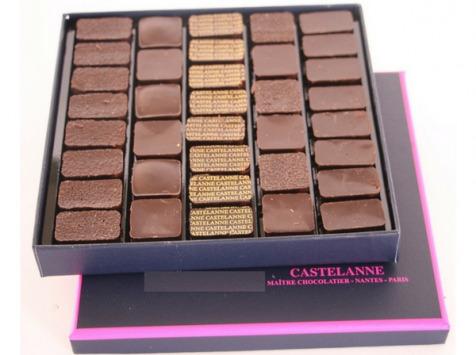 Maison Castelanne Chocolat - Coffret Dégustation Crus De Cacao 36 Chocolats