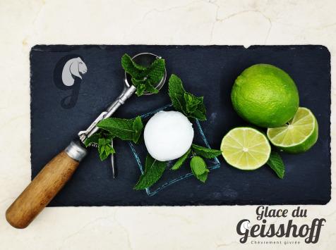 Glace du Geisshoff - Mojito Crème Glacée Fermière au Lait de Chèvre 750 ml