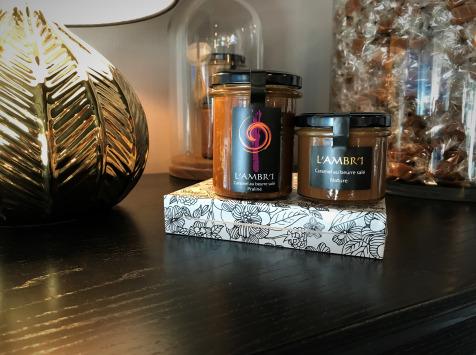 L'AMBR'1 Caramels et Gourmandises - Crèmes De Caramel Au Beurre Salé Praliné Et Nature