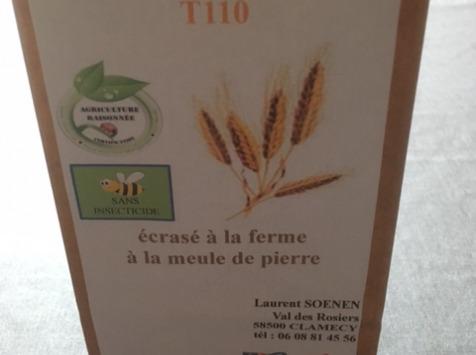 FARINE DE LA TUILERIE - Farine de Blé T110 - 1kg