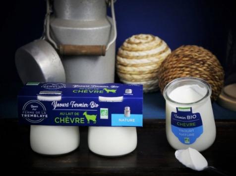 Ferme de La Tremblaye - Yaourt De Chèvre Fermier Bio  Nature 2 Pots