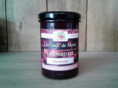 Le Domaine du Framboisier - Confiture allégée en sucre Framboise et Violette 250g