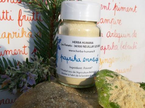 HERBA HUMANA - Paprika Enneigé Cultivé en France 30g