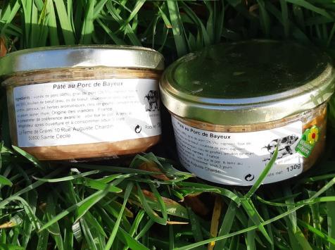 """La Ferme de Grémi - 2 Pâtés De Campagne Nature, De Porc """"de Bayeux"""", élevé en plein air intégrale"""