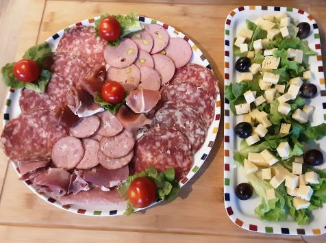 Gourmets de l'Ouest - Plateau apéro charcuterie porc fermier + Tomme fermière au lait cru