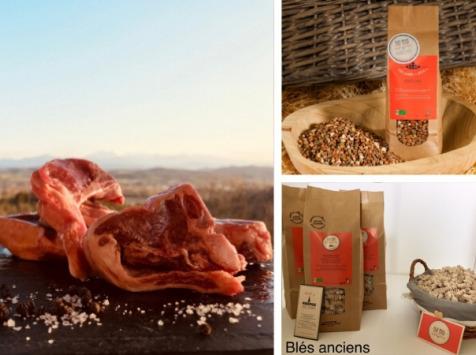 Du bio dans l'assiette - [Précommande] Offre Pâques : Côtes Tranchées Agneau Fermier Bio 1kg + Accompagnements Offerts