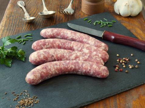 La Ferme du Chaudron - Saucisses de Porc BIO aux Herbes - 500 g