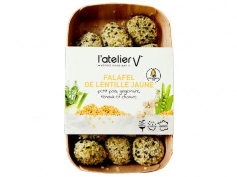 L'Atelier V* - Falafel de Lentille Jaune, Petit Pois, Gingembre, Fenouil et Chanvre