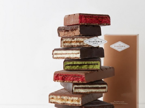 La Glacerie par David Wesmaël - Meilleur Ouvrier de France Glacier - Tablette Glacée Chocolat au Lait, Noisettes & Caramel