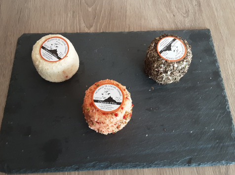 Gourmets de l'Ouest - Trio de crottins de chèvre au lait cru