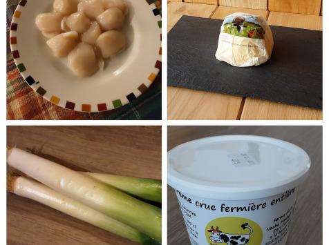 Gourmets de l'Ouest - St Jacques et fondue de poireaux - kit complet