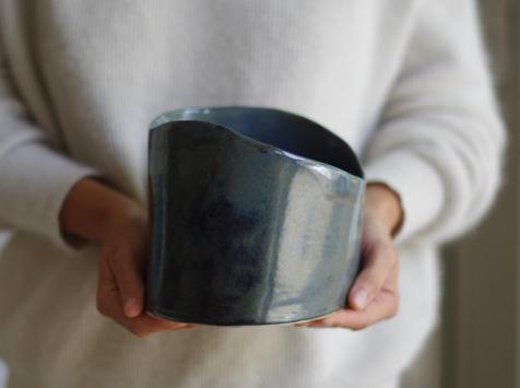Atelier Eva Dejeanty - Bol ou Saladier en Céramique (grès) modèle Cellule Taille M