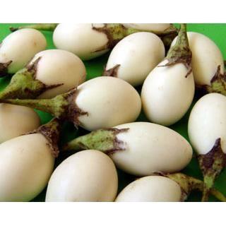 Maison du Pruneau - Aubergine blanche à œuf ( mini aubergines ) lot de 6