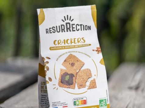 Crackers Résurrection - Crackers Sarrasin & graines de courge aux céréales de brasseur revalorisées