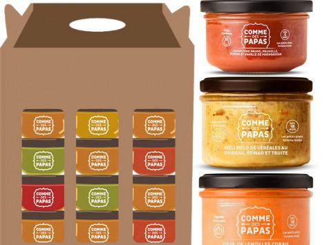 Comme des Papas - Mini Pack 10 Pots Bébé (dès 18 Mois): 3 x dinde curry, 3 x légumes truite, 2 x quinoa asperge, 2 x fraise