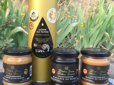 Depuis des Lustres - Comptoir Corse - coffret  3 miels - huile d'olive
