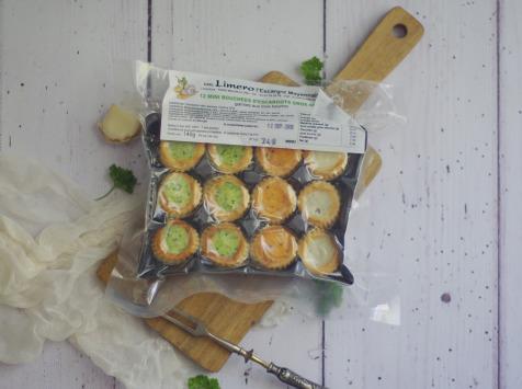 Limero l'Escargot Mayennais - Assiette De 12 Mini Bouchées D'escargots Gros Gris FRAIS Garnies Aux 3 Beurres - Lot De 10
