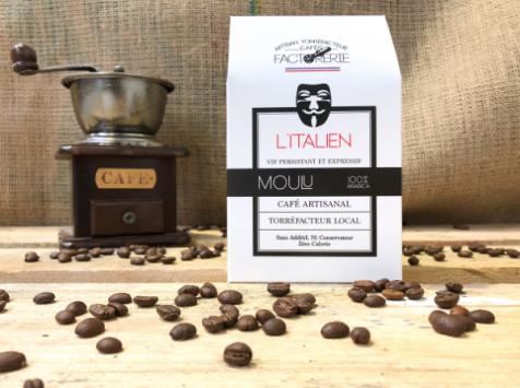 Cafés Factorerie - Café Blend L'Italien MOULU - 250g