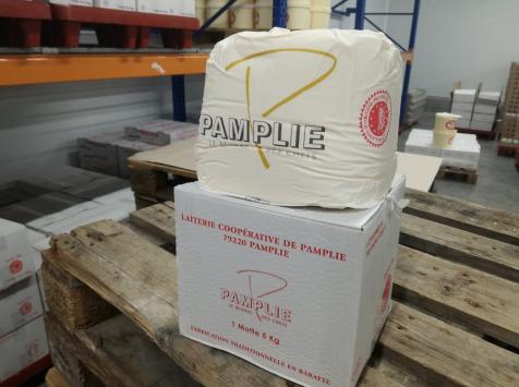 Laiterie de Pamplie - Beurre Pasteurisé Doux Aop Charentes-poitou - motte 5kg