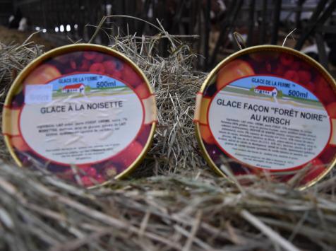 """Les Glaces de la Promesse - Glace Façon """"forêt Noire"""" Au Kirch Et Glace À La Noisette 2x 500 Ml"""