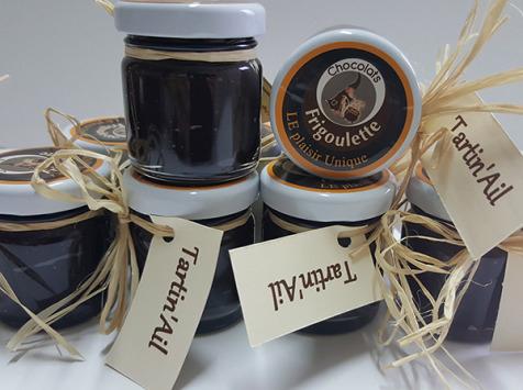 Maison Boutarin - Tartin'ail : une pâte à tartiner au chocolat et à l'ail noir