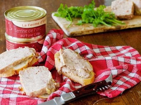 La ferme d'Enjacquet - Terrine de porc au foie gras