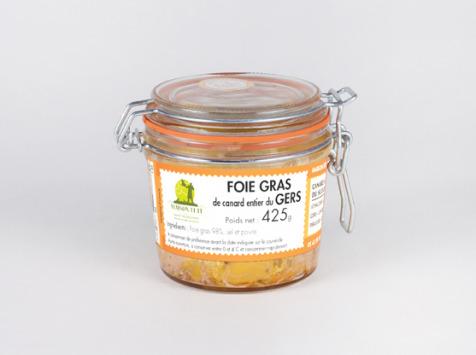 Maison Tête - FOIE GRAS de canard entier 425G