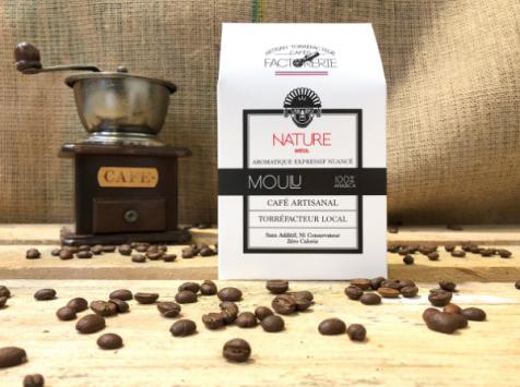 Cafés Factorerie - Café Brésil Nature Moulu - 250g