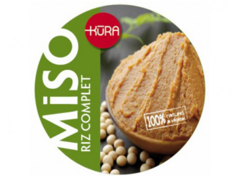 Kura de Bourgogne - Miso Bio Frais Moyen De Riz 1/2 Complet Jeune 10mois+